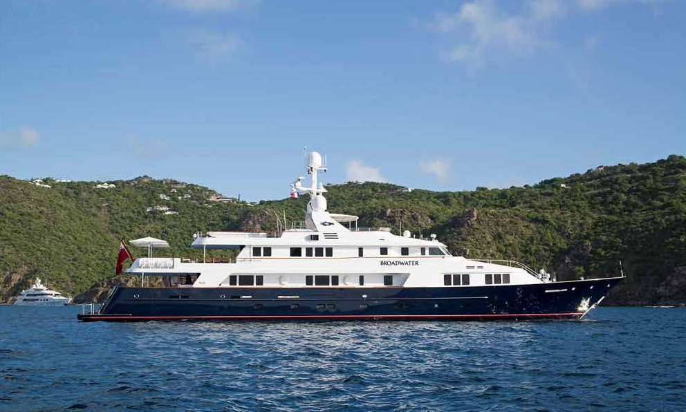 a6d3b3f7a4ce2 The 165' Feadship BROADWATER just finished a 9-month interior refit in  March 2017 and is unveiling some new interior and exterior photos.