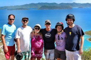 Guests rent an ATV to climb the mountain trails on Jost Van Dyke