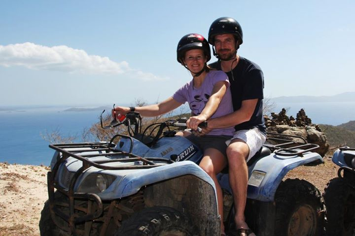 Guests rent an ATV on Jost Van Dyke