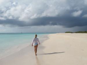 Walking the beaches of Anegada