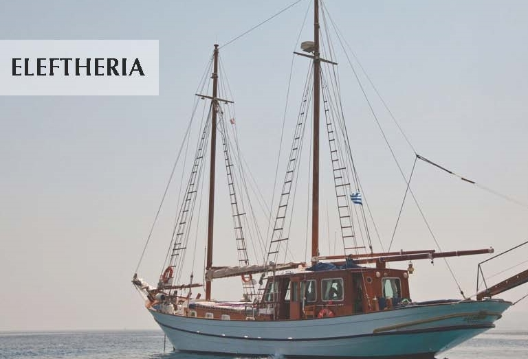 Gulet motorsailor ELEFTHERIA sails Greece & Greek Waters