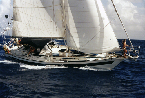 Phil offers S/Y STORM PETREL for Charter, Because he Enjoys People and the Sea 48' Bruce Roberts Cutter, 1985