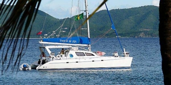 Two if By Sea 45' Leopard catamaran for charter in St. Thomas US Virgin Islands