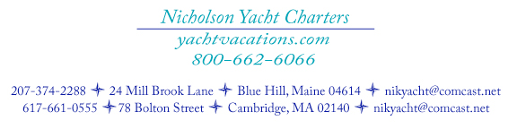Nicholson Yacht Charters of Maine and Massachusetts (formerly of Antigua, West Indies)