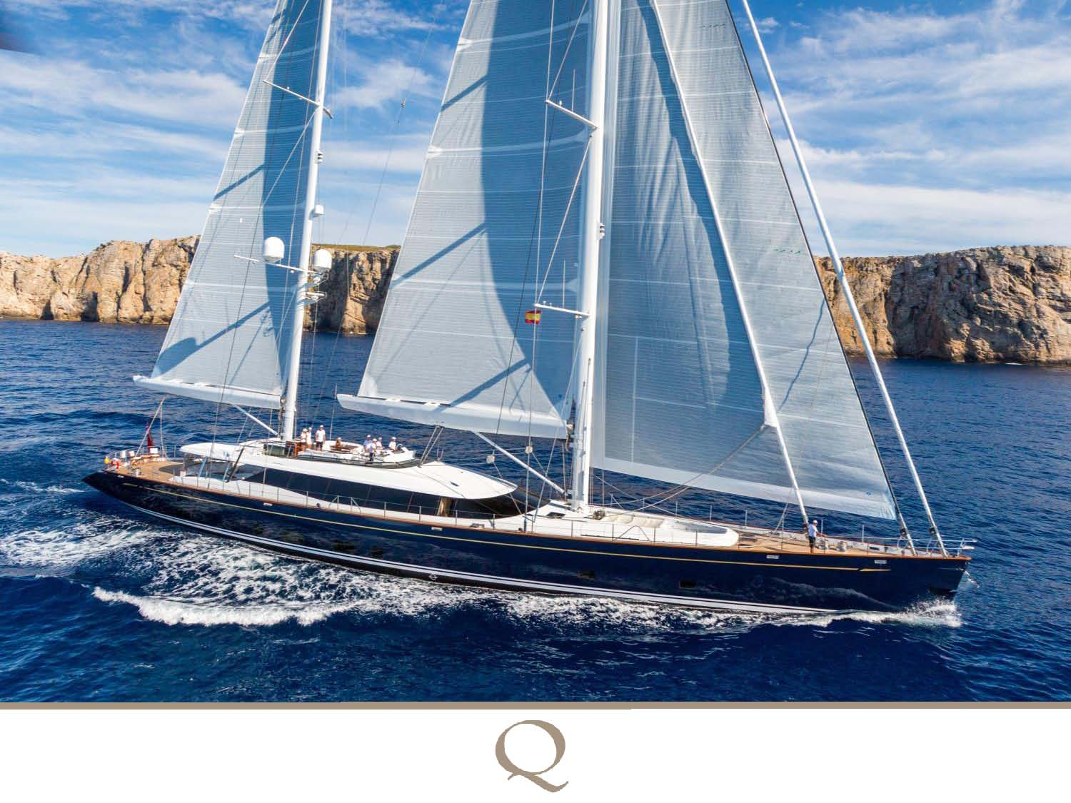 Seasoned sailors, the new owners of the 170' Alloy ketch Q stripped the  wood floors down to bare wood in the saloon, centralized the seating with  table ...
