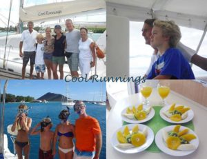 Charter crew submit a collage of photos about a family cruising the Virgin Islands