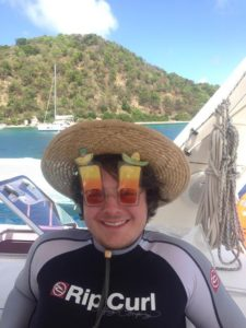 Austin wears crazy sunglasses as he gets ready for Margarita night