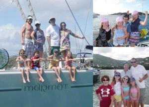 Children dress up as pirates in the Virgin Islands