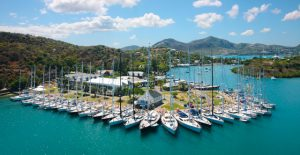 Nelson's Dockyard charter yacht fleet managed by Nicholson Yacht Charters, Inc. sailing the Eastern Caribbean
