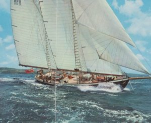 classic yacht, traditional schooner, wooden yacht